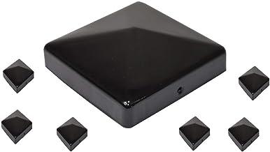 sterni1945 7 X Pyramide Pfostenkappe 7X7 cm schwarz pulverbeschichtet 71X71 mm Kappe Pfostenabdeckung Abdeckung Pfosten Pfostenschutz Pyramidenabdeckung 7,1X7,1cm//70X70 mm