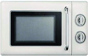 WONOOS Horno de microondas, Mini Horno Giratorio Retro de pequeño hogar Multifuncional de 20L, Ajuste de Temperatura de 6 Pasos, protección contra radiación múltiple, Adecuado para 4-5 Personas