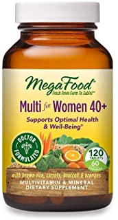 MegaFood, Multi for Women 40+, Supports Optimal Health and Wellbeing, Multivitamin and Mineral Dietary Supplement, Gluten ...