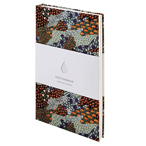 MOO Lined Hardcover Notebook: The Wild Ones Collection - Designer Lay Flat Journal With Meadow Print Cover - Artistic Blank 5x8 Book for Writing, Field Notes and Meetings (Sara Boccaccini Meadows)
