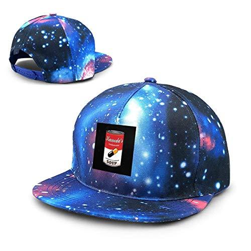 Unisex Akira Kanedas Cápsula Sopa Galaxy Algodón Hip Hop Snapback Sombrero de ala Plana Adulto Papá Gorras de béisbol Azul