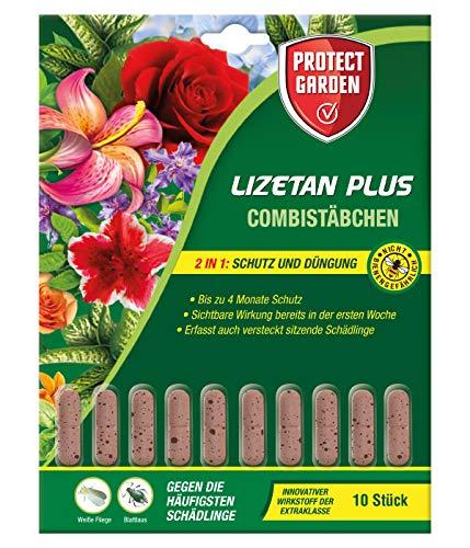 PROTECT GARDEN Lizetan Plus Combistächen Schädlingsfrei gegen Blattläuse und andere saugende Schädlinge und Premium-Dünger in Einem, 10 Stück