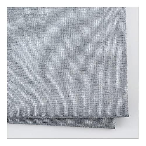 Tela de Tapicería de Aspecto de Lino Liso Suave, para Coser Cortinas de Cojines de Tapicería de Confección, 150 Cm de Ancho 1 Metro,33# Cement Gray