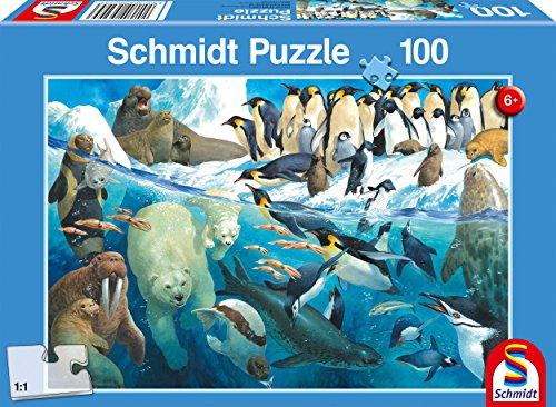 Schmidt Spiele Puzzle 56295 Kinderpuzzle, Tiere am Polarkreis, Mehrfarbig