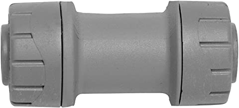 Polyplumb Push Fit Straight Coupler 22mm - Grey (Pack of 3)
