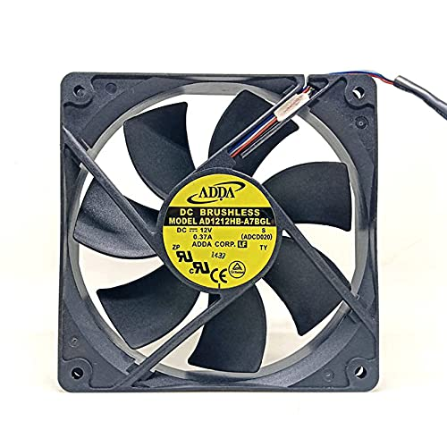 12025 AD1212HB-A7BGL Chassis Matte Wind Fan For antec,12cm 4-Pin PWM Speed Control Ultra-Quiet fan