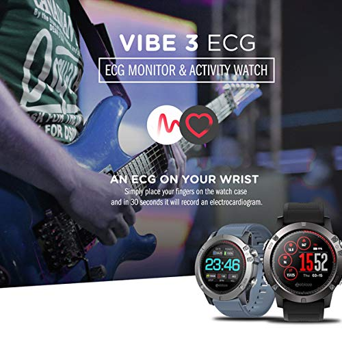 smartwatch zeblaze vibe 3 ecg Zeblaze VIBE 3 ECG IPS Display a colori Sport Smartwatch Cardiofrequenzimetro IP67 Smart Watch da uomo impermeabile per IOS per Android - Rosso