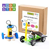 CY-ZAM DIY Robotics Science Kits STEM Toys for Kids, Electric Motor Assembly Solar Powered Car Kit, DIY Science Engineering Experiments Projects for Boys & Girls (2 Sets)