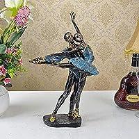 Mei-YY 工芸品 ジュエリーアートクラフト像レトロなバレリーナのカップル彫刻樹脂の贈り物 装飾品