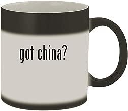 got china? - Ceramic Matte Black Color Changing Mug, Matte Black