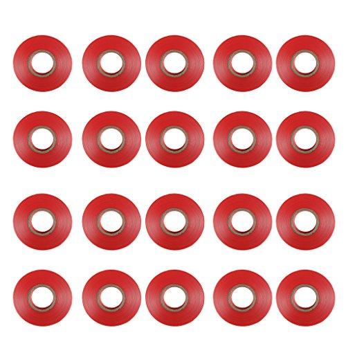 B Blesiya 20 Piezas Tapetool Rama de Jardinería Máquina de Atar de 20 Rollos Máquina de Tapetool Tapener para Herramienta De Cinta - Rojo