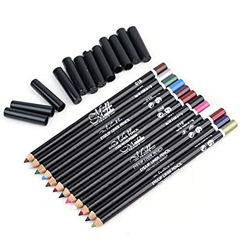 Sungpunet DAYAN 12 couleurs de maquillage cosmétiques Pen doublure imperméable Sourcils Eyeliner Crayon à lèvres Outils beau