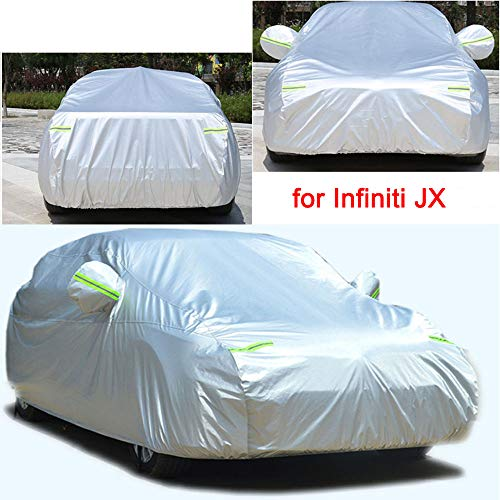 Tiantian Full Car Cover All Weather Indoor/Outdoor Full Car Cover SUV Car Covers for Infiniti JX 2013 204 2015 2016 2017 2018 2019 2020 2021