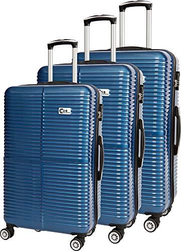 Compagnie du bagage Set DE 3 VALISES Juego de Maletas 48 Centimeters Azul (Marine)