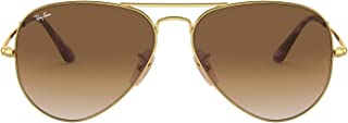 Ray-Ban Men's Sunglasses Classic, Gold/Brown