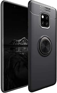 LAGUI Case Compatible for Huawei Mate 20 Pro, Magnetic Car Mount Dedicated Cover With finger Ring Holder. gun color+black