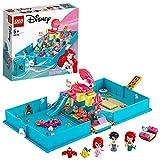 LEGO 43176 Disney Princess Les aventures d'Ariel dans un livre de contes Ensemble de jeu avec Ariel la petite sirène, jouet de voyage portable