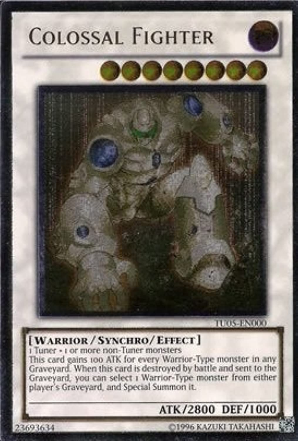 YuGiOh   Colossal Fighter (TU05EN000)  Turbo Pack 5  Promo Edition  Ultimate Rare by YuGiOh