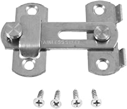LOYAL TECHNOLOGY Hasp Klink Metal HASP klink Schuifdeur Lock for Window Cabinet Fitting Hardware (Color : Silver)