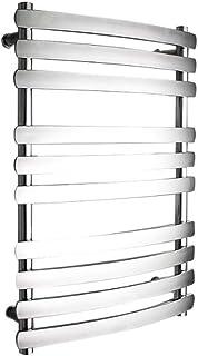 YIDTO Nuevo Minimalista Baño Calentador Toallero Radiador Contemporáneo Cromo Curvo Baño Electro Térmico Toallero