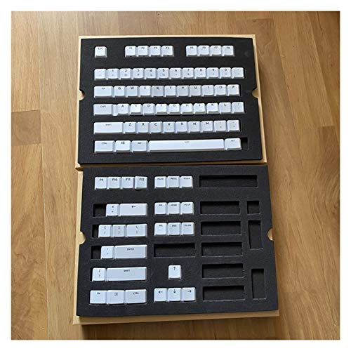 WULE-RYP 109 / 87pcs KeyCAP Capas de Llave translúcidas Originales para el Teclado G913 G915 G813 G815 Keycaps retroiluminado de la 2da generación con Caja (Color : White 87 Keys)