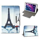 NAUC Tablet Tasche für Medion Lifetab P10603 P10606 P10602 X10605 X10607 X10311 X10302 X10301 P10400 P10506 Hülle Schutzhülle Case Cover Stand, Farben:Motiv 4