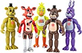 Featured by Five Nights at Freddys | Action Figures Toy Set of 5 PCS | 6 inches | Toy Dolls for All Kids