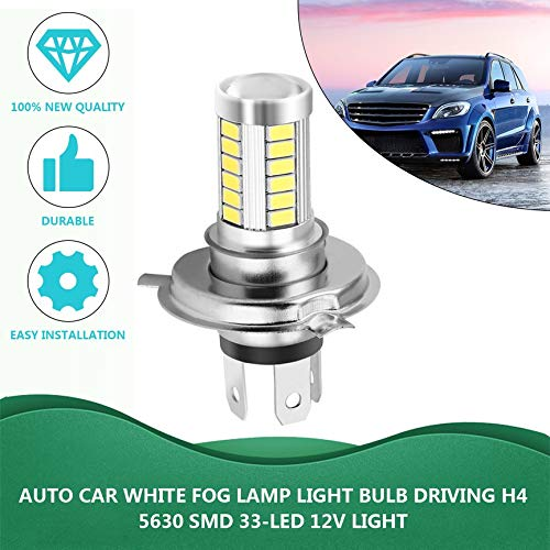 H4 33SMD 5630 LED Super Bright White Car Faros delanteros Fuente de luz DRL Luces de tráfico diurnas Bombilla Lámpara LED 12V 8W Wagon