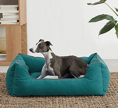 Pet Bed Dog Bed Rectangle Comfy Dog Cat Bed Warming Soft Pet Sofa Dog Basket, Machine Washable Comfort Bed for Small Medium Large Dog (XL,Green)