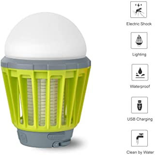 Lámpara de Cámping LED Antimosquitos Lámpara Portátil IPX6 Impermeable 2 en 1 Noche Lámpara Recargable 2000mAh Zapper Mosquito