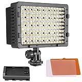 NEEWER CN-160 - Panel de luz LED regulable de 160 piezas para cámara de vídeo y...