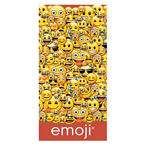 Asditex Toalla de Playa Emoji 2 (100% algodón)