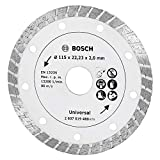Bosch 2607019480 - Disco de diamante para materiales de construcción turbo (diámetro de 115 mm)