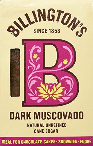 Billington's Dark Muscovado Natural Unrefined Cane Sugar - 500g ,5 Stück