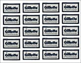 100 Gillette Platinum Blue Double Edge Safety Razor Blades, 20 x 5