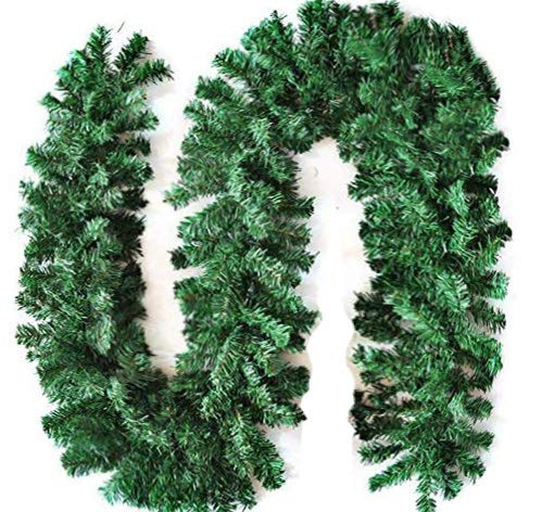STRPRETTY BASIC Christmas Garland Set of 1 pcs, Artificial Green Non-Lit Pine Garland for Christmas Holiday Decoration,Holiday Wedding,Party