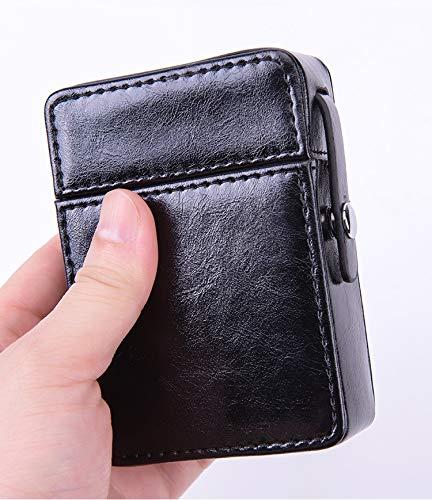 XIAOXIA Coin De Cigarette pour Hommes 20 Cigarettes De Cigarettes Pleine Boîte De Cigarette Mode Simple Portable Cuir Flip Coquille De Protection