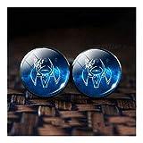 SLZC Camisa 12 del Zodiaco de Cristal de la aleación de Las Mancuernas del Zodiaco Conjunto Mancuernas de los Hombres con el Regalo de cumpleaños (Color : Taurus)