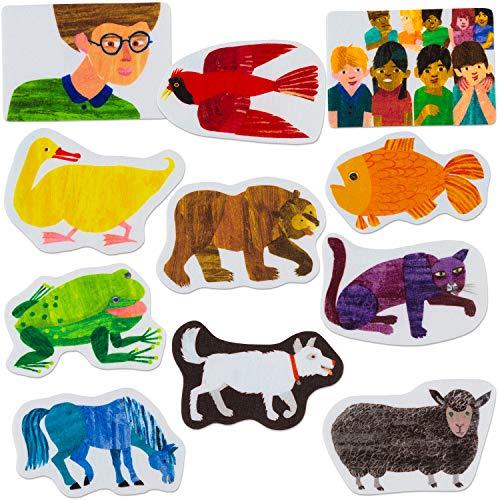 Little Folk Visuals Brown Bear, Brown Bear, What do You See? Precut Flannel/Felt Board Figures, 11 Pieces Set