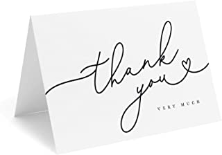 Wedding Thank You Cards  Bridal Shower Thank You Cards  Personalized Wedding Cards  Folded Note Cards   THANK YOU HEART center