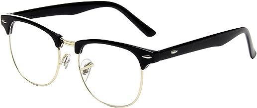 Shiratori New Vintage Fashion Half Frame Semi-Rimless Clear Lens Glasses …