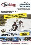 TrakMaps Snowmobile Newfoundland & Labrador Map for Garmin including routable official NLSF trails of Newfoundland & Labrador