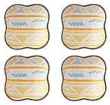 platos de salsa Sazonando el plato de underglaze Cerámica Cerámica plato - Set de tazones de inmersiones Conjunto de 4 colores brillantes Vajilla para el hogar Ideal para salsa de salsa placas plato d
