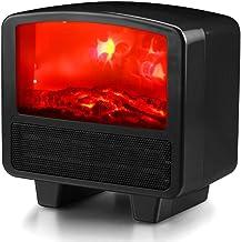 LYzpf Rápido Calentador de Ventilador Mini Pequeña Cerámica Aire Personal Portátil Calefactor Eléctrico Ajuste de 3 Modos para Habitación Oficina Baño