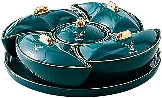 طبق تقديم المكسرات 5 أطباق التقديم المقطعية للمقبلات وعاء البندق مقسم وصواني التقديم