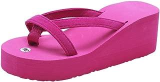 Boomboom Summer Sandals, Summer Fashion Women Slipper Flip Flops Beach Wedge Thick Sole Heeled Shoes