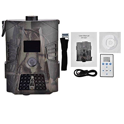 Garsent Jagdkamera, 8MP 1080P Full HD Wildkamera 60°Weitwinkel Vision Infrarote 20m Nachtsicht Überwachungskamera für Outdoor Jagd