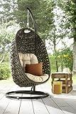 DESTINY Cocoon Hängesessel Polyrattan Sessel ** Inklusive Schutzhaube TAUPE ** Hängekorb – Nur bei uns – - 2
