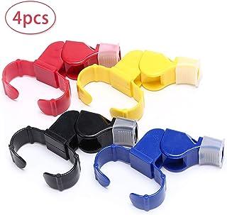 4 PCS Silbato - Silbato para árbitro Entrenador Colorido Plástico Silbatos Fútbol Plástico Silbato,Deportes Silbato para fútbol