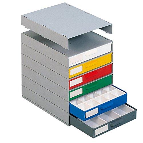 neoLab 2-1137 Sortimentsschrank mit 6 Schubladen m. Fächereinteilung